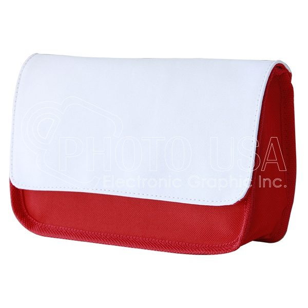 Sublimation pencil pouch/cosmetic bag (red)