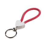 Heart Braided Keyring – red 1