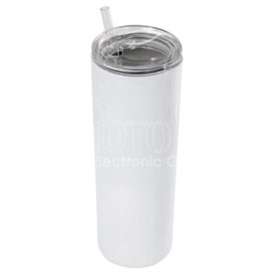 20 oz. Stainless Steel Skinny Tumbler with Lid and Straw