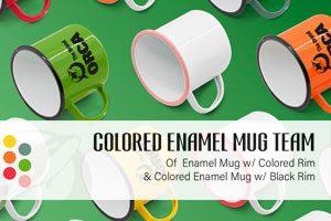 Colored Enamel Mug
