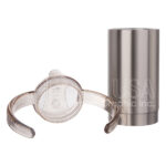 Stainless Steel Sippy Cup w Handles – silver 1