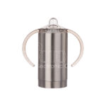 Stainless Steel Sippy Cup w Handles – silver