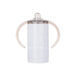 Stainless Steel Sippy Cup w Handles – white