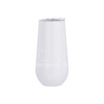Stainless Steel Stemless Champagne Cup – white