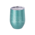 12 oz. Glitter Stainless Steel Stemless Wine Cup – blue