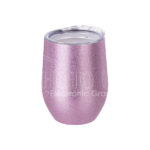 12 oz. Glitter Stainless Steel Stemless Wine Cup – pink