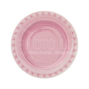 pink rose plate