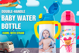 Double-Handle Baby Water Bottle