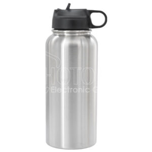 Stainless Steel Sport Water Bottle w/ Finger Loop Handle