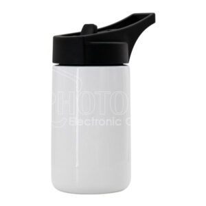 370 ml Stainless Steel Sport Water Bottle w/ Slanted Handle