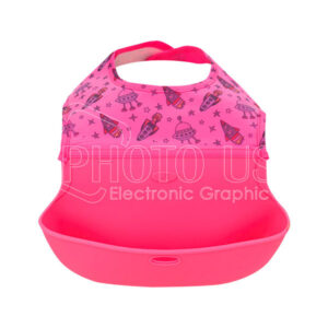 Personalized Silicone Baby Bib with Food Catcher Pocket