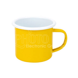 12 oz. Color Enamel Mug with White Rim
