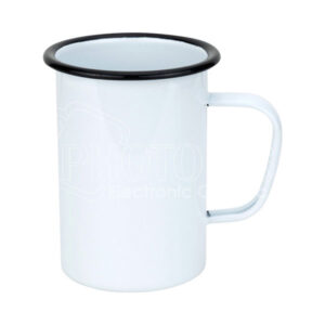 20 oz. Enamel Mug with Black Rim