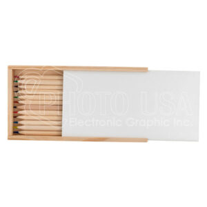 Personalized Pinewood Pencil Case with Pinewood Color Pencils