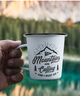 16oz. Tapered Enamel Mug with Handle for Sublimation