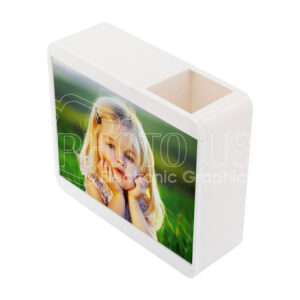 """Personalized Pencil Holder Piggy Bank with 7"""" Photo Frame"""