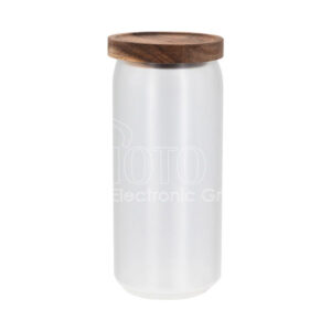 Sublimation Glass Food Storage Jars with Bamboo Lid