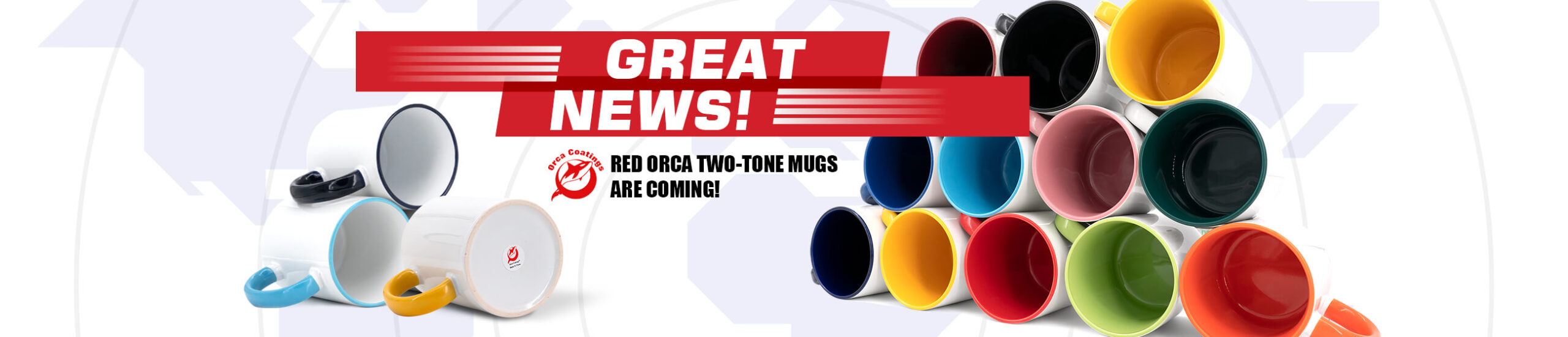 Red Orca Two-Tone Mugs
