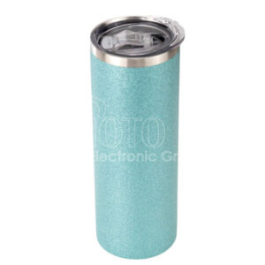 20 oz. Sublimation Glitter Stainless Steel Skinny Tumbler with Lid